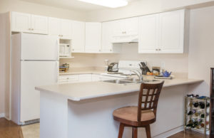 mountainview village Kelowna British Columbia Independent Living suite kitchen