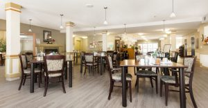 Heron Grove Vernon British Columbia Dinning Room of Independent Living facility
