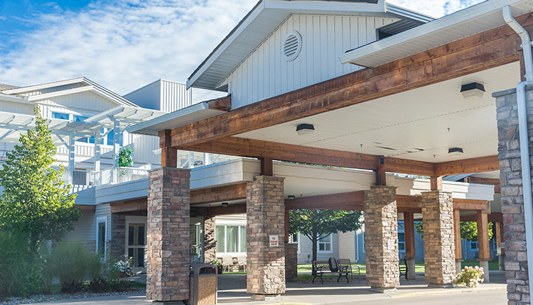 Vernon British Columbia Independent Living Exterior Entrance